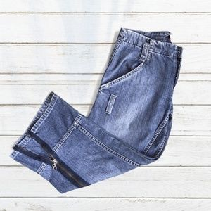 Joie Capri Jeans with Side Zippers